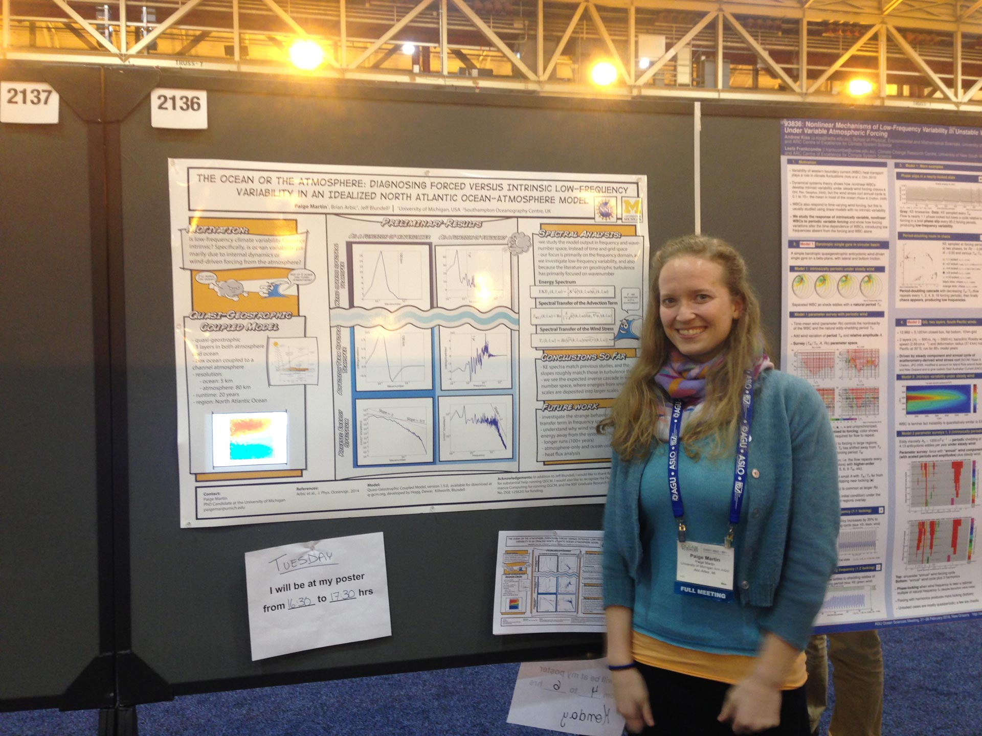 Paige Martin giving her poster at Ocean Sciences meeting
